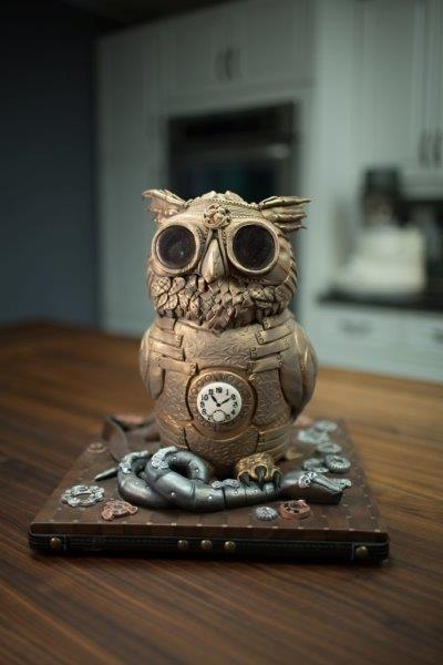 steampunk owl front