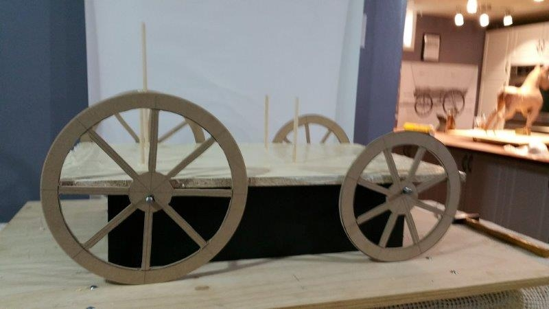 wooden wagon structure