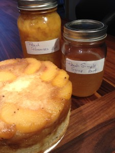 "Fresh ""brewed"" Peach Simple Syrup"