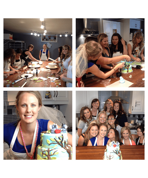 Interactive stagette cake decorating party