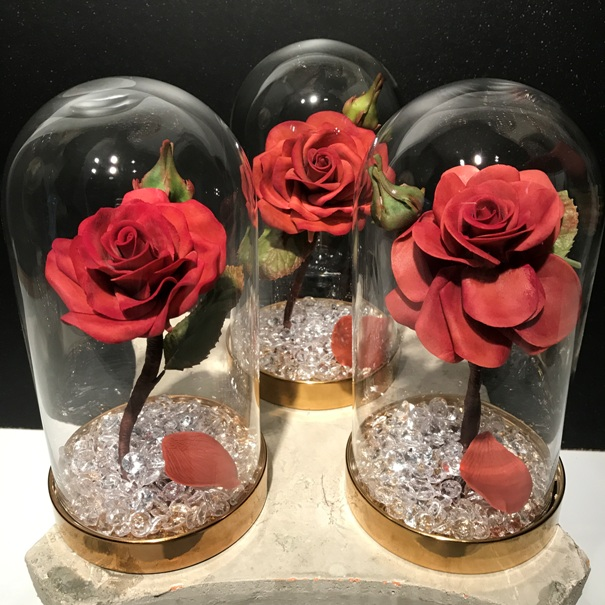 Gumpaste Rose in Glass